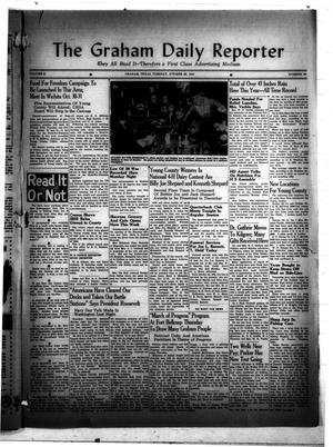 Primary view of object titled 'The Graham Daily Reporter (Graham, Tex.), Vol. 8, No. 50, Ed. 1 Tuesday, October 28, 1941'.