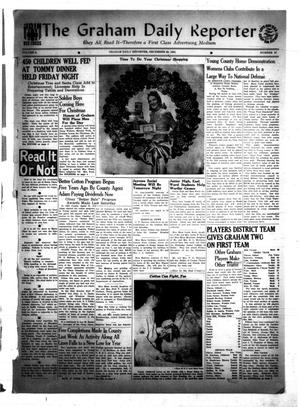 Primary view of object titled 'The Graham Daily Reporter (Graham, Tex.), Vol. 8, No. 97, Ed. 1 Monday, December 22, 1941'.