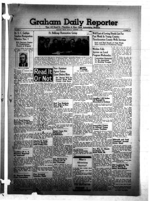 Primary view of object titled 'Graham Daily Reporter (Graham, Tex.), Vol. 8, No. 31, Ed. 1 Monday, October 6, 1941'.