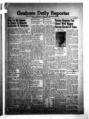 Primary view of object titled 'Graham Daily Reporter (Graham, Tex.), Vol. 8, No. 19, Ed. 1 Monday, September 22, 1941'.