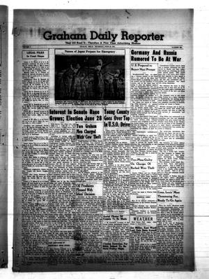 Primary view of object titled 'Graham Daily Reporter (Graham, Tex.), Vol. 7, No. 250, Ed. 1 Thursday, June 19, 1941'.