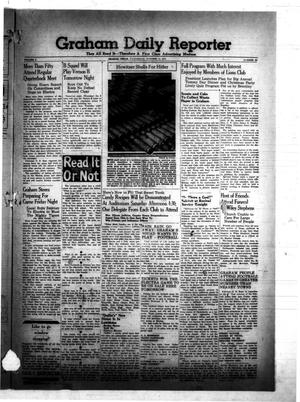 Primary view of object titled 'Graham Daily Reporter (Graham, Tex.), Vol. 8, No. 39, Ed. 1 Wednesday, October 15, 1941'.