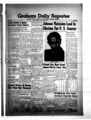 Primary view of object titled 'Graham Daily Reporter (Graham, Tex.), Vol. 7, No. 259, Ed. 1 Monday, June 30, 1941'.