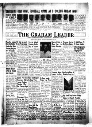 Primary view of object titled 'The Graham Leader (Graham, Tex.), Vol. 71, No. 6, Ed. 1 Thursday, September 19, 1946'.