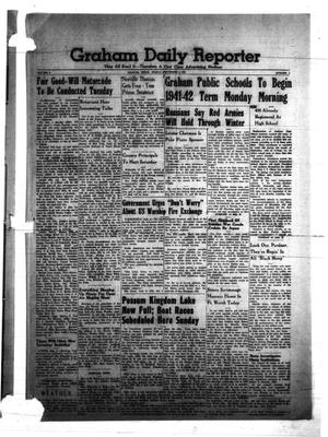Primary view of object titled 'Graham Daily Reporter (Graham, Tex.), Vol. 8, No. 5, Ed. 1 Friday, September 5, 1941'.