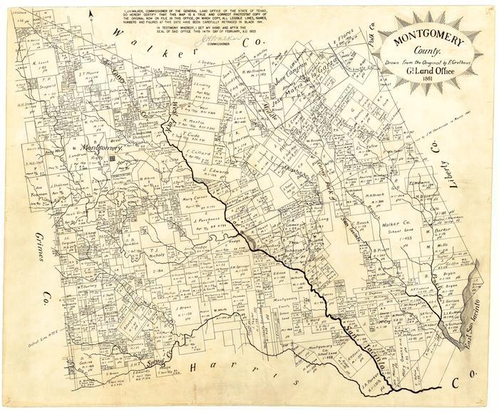 Montgomery County - The Portal to Texas History on galveston county, brazoria county, howard county map, queen anne county map, sf bay county map, wilmington county map, houston county, liberty county, manassas county map, splendora, texas, kerrville county map, washington county, waller county, nw arkansas county map, prince george's county map, city of lexington map, travis county, jefferson county, harris county, delaware county map, greater houston, fort bend county, the woodlands, texas county map, harford county map, montgomery tx, orange county, madison county, chester county map, dayton county map, bucks county map, oak ridge county map, maryland county map, dallas county, berks county map, sw michigan county map,