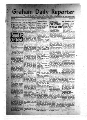 Primary view of object titled 'Graham Daily Reporter (Graham, Tex.), Vol. 8, No. 185, Ed. 1 Wednesday, April 1, 1942'.