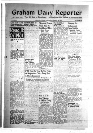 Primary view of object titled 'Graham Daily Reporter (Graham, Tex.), Vol. 8, No. 178, Ed. 1 Wednesday, March 25, 1942'.