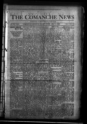 Primary view of object titled 'The Comanche News (Comanche, Tex.), Vol. 10, No. 25, Ed. 1 Thursday, July 9, 1908'.