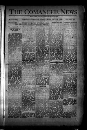 Primary view of object titled 'The Comanche News (Comanche, Tex.), Vol. 10, No. 36, Ed. 1 Thursday, September 24, 1908'.