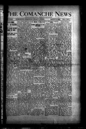 Primary view of object titled 'The Comanche News (Comanche, Tex.), Vol. 10, No. 7, Ed. 1 Thursday, March 5, 1908'.