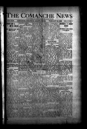 Primary view of object titled 'The Comanche News (Comanche, Tex.), Vol. 9, No. 5, Ed. 1 Thursday, February 20, 1908'.