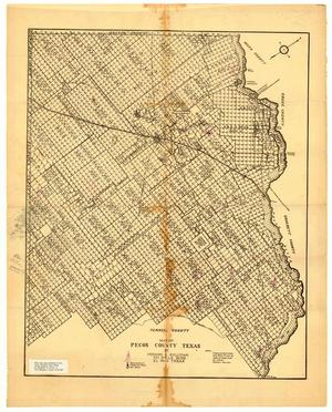 Primary view of object titled 'Map of Pecos County, Texas'.