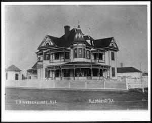 Primary view of object titled '[T. B. Wessendorff residence in Richmond, Texas]'.
