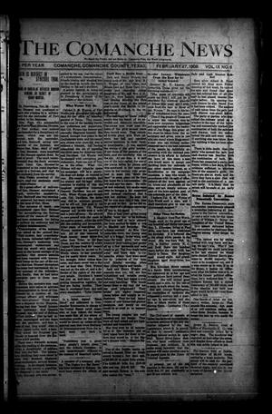 Primary view of object titled 'The Comanche News (Comanche, Tex.), Vol. 9, No. 6, Ed. 1 Thursday, February 27, 1908'.
