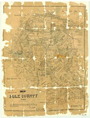 Primary view of object titled 'Map of Polk County, Texas'.