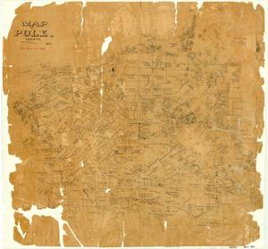Primary view of object titled 'Map of Polk County'.