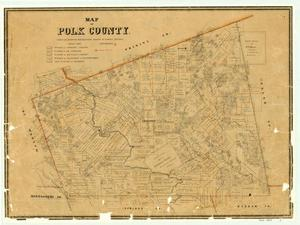Primary view of Map of Polk County