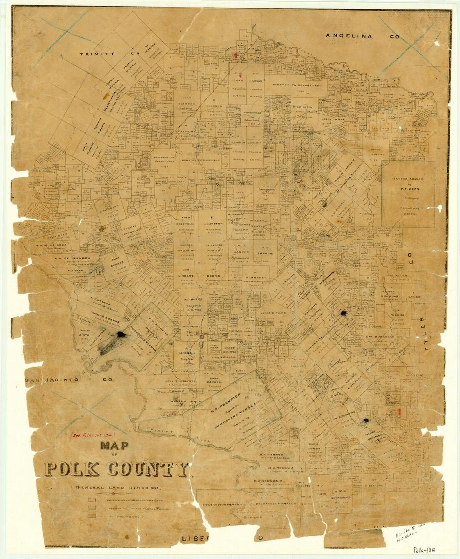 Map of Polk County                                                                                                      [Sequence #]: 1 of 1