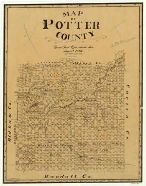 Primary view of object titled 'Map of Potter County'.