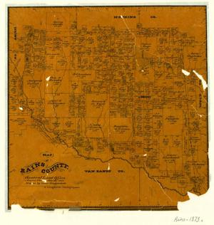 Primary view of object titled 'Map of Rains County'.