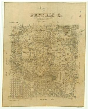 Primary view of object titled 'Map of Runnels County'.