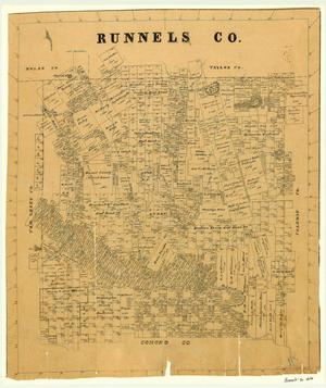 Primary view of object titled 'Runnels County'.