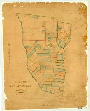 Primary view of object titled 'Map of San Augustine County'.