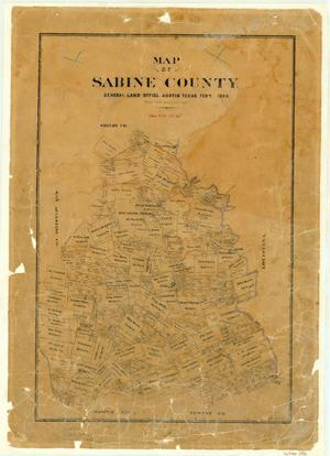 Primary view of object titled 'Map of Sabine County'.
