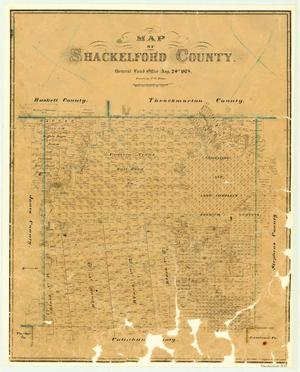 Primary view of object titled 'Map of Shackelford County'.