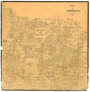 Primary view of object titled 'Map of Smith County'.