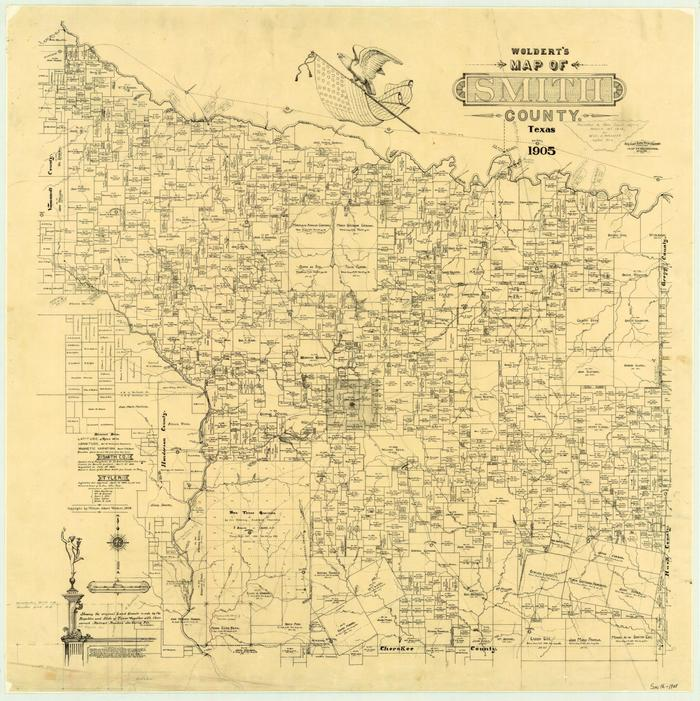 Smith County Texas Map Woldert's Map of Smith County, Texas   The Portal to Texas History