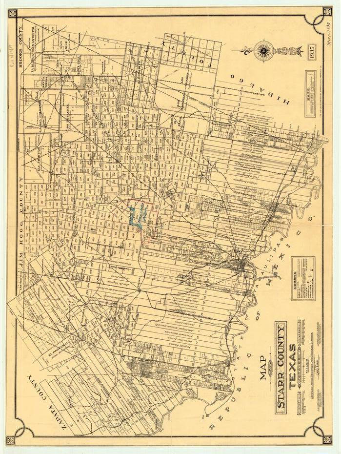 Map of Starr County                                                                                                      [Sequence #]: 1 of 1