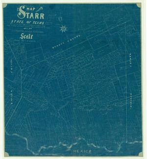 Primary view of object titled 'Map of the County of Starr, State of Texas.'.