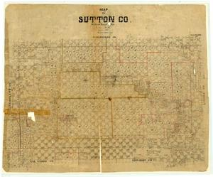 Primary view of object titled 'Map of Sutton County'.