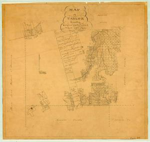 Primary view of object titled 'Map of Taylor County'.