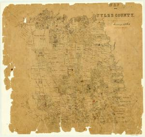 Primary view of object titled 'Map of Tyler County'.