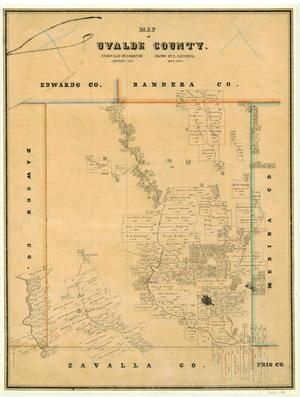 Primary view of object titled 'Map of Uvalde County'.