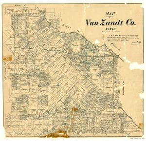 Primary view of object titled 'Map of Van Zandt County, Texas'.
