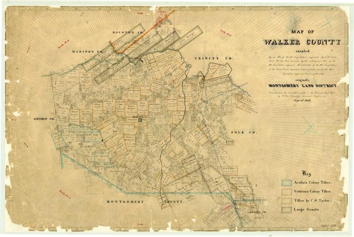 Map of Walker County - The Portal to Texas History