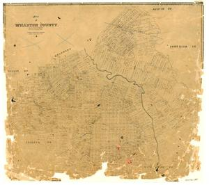 Primary view of object titled 'Map of Wharton County'.