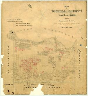 Primary view of object titled 'Map of Wichita County'.