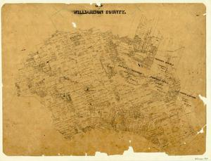 Primary view of object titled 'Map of Williamson County'.