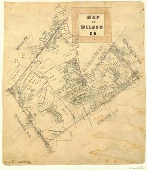 Primary view of object titled 'Map of Wilson County'.