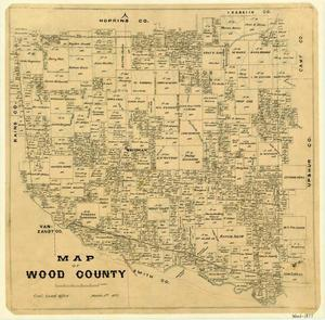 Primary view of object titled 'Map of Wood County'.