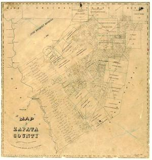 Primary view of object titled 'Map of Zapata County'.