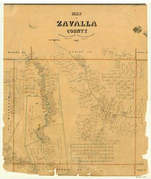 Primary view of object titled 'Map of Zavala County'.