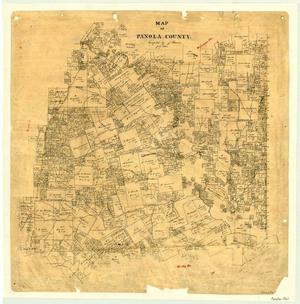 Primary view of object titled 'Map of Panola County'.