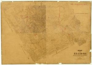 Map of Ellis County