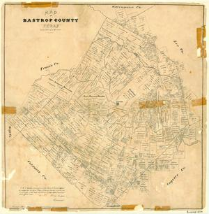Primary view of object titled 'Map of Bastrop County, Texas'.